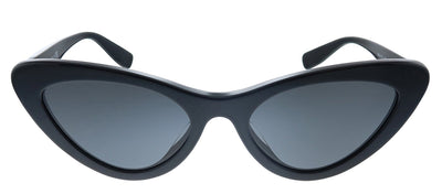 Miu Miu MU 01VSA 1AB5S0 Butterfly Plastic Black Sunglasses with Grey Lens
