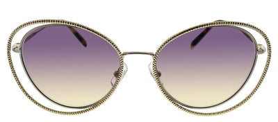 Miu Miu MU 59VS 09D09B Butterfly Metal Gold Sunglasses with Purple Gradient Lens