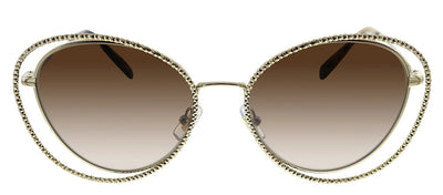 Miu Miu MU 59VS ZVN6S1 Butterfly Metal Gold Sunglasses with Brown Gradient Lens