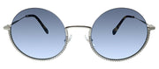 Miu Miu MU 69US 1BC4R2 Round Metal Silver Sunglasses with Blue Gradient Lens