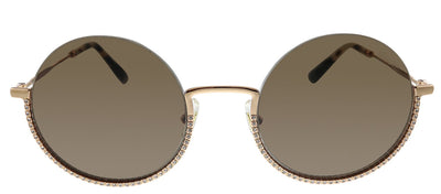 Miu Miu MU 69US SVF06B Round Metal Gold Sunglasses with Brown Lens