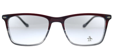Original Penguin PE Drexler RD Square Plastic Red Eyeglasses with Demo Lens