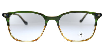 Original Penguin PE Hopper2.0 MD Square Plastic Green Eyeglasses with Demo Lens