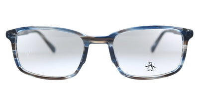 Original Penguin PE Layne BL Square Plastic Storm Blue Eyeglasses with Demo Lens