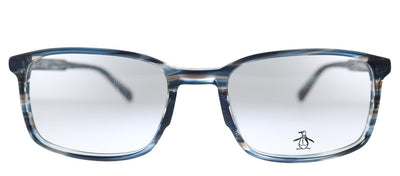 Original Penguin PE Layne SB Rectangle Plastic Storm Blue Eyeglasses with Demo Lens