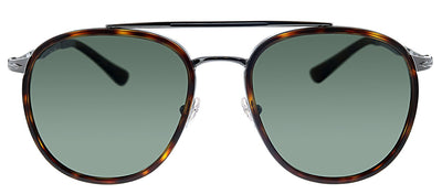 Persol PO 2466S 513/58 Pilot Metal Havana Sunglasses with Green Polarized Lens