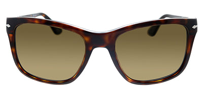 Persol PO 3135S 24/57 Square Plastic Havana Sunglasses with Brown Polarized Lens