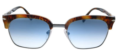 Persol PO 3199S 108/3F Square Plastic Havana Sunglasses with Blue Gradient Lens