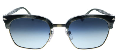 Persol PO 3199S 111432 Square Plastic Black Striped Sunglasses with Blue Gradient Lens