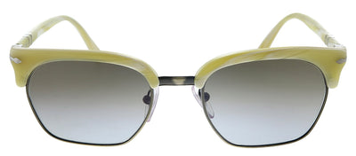 Persol PO 3199S 111596 Square Plastic Ivory Striped Sunglasses with BLue Gradient Lens