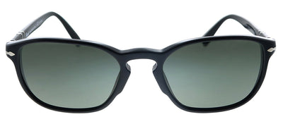 Persol PO 3234S 95/58 Rectangle Plastic Black Sunglasses with Green Polarized Lens
