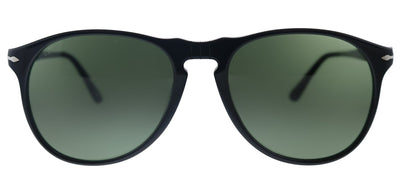 Persol PO 9649S 95/31 Pilot Plastic Black Sunglasses with Green Lens