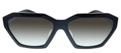 Prada PR 03VSF 1AB5O0 Cat-Eye Plastic Black Sunglasses with Silver Mirror Lens
