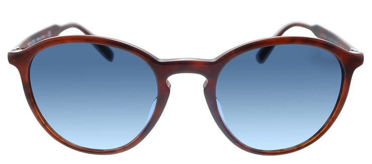 Prada PR 05XSF 549735 Oval Plastic Tortoise Sunglasses with Blue Gradient Lens