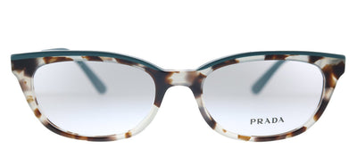 Prada Catwalk PR 13VV 4751O1 Oval Plastic Brown Eyeglasses with Demo Lens
