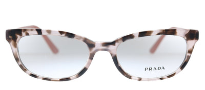 Prada Catwalk PR 13VV ROJ1O1 Oval Plastic Pink Eyeglasses with Demo Lens