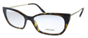 Prada PR 14XV 2AU1O1 Cat-Eye Plastic Havana Eyeglasses with Demo Lens