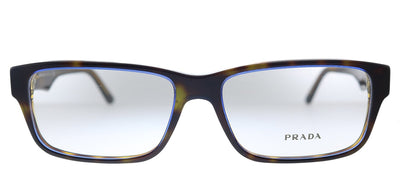 Prada PR 16MV ZXH1O1 Rectangle Plastic Tortoise Denim Eyeglasses with Demo Lens