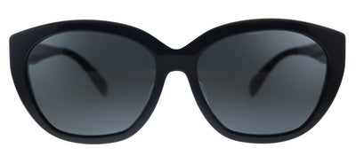 Prada PR 16XSF 1AB5S0 Oval Plastic Black Sunglasses with Grey Lens