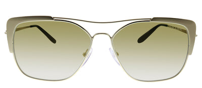 Prada PR 54VS 3302G2 Rectangle Metal Gold Sunglasses with Gold Mirror Lens