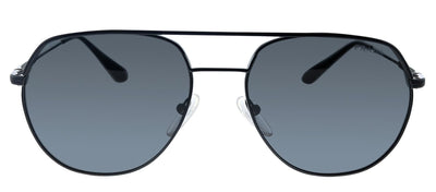 Prada PR 55US 1AB5S0 Pilot Metal Black Sunglasses with Grey Lens