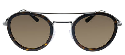 Prada PR 56XS 01A8C1 Oval Metal Havana Sunglasses with Brown Lens