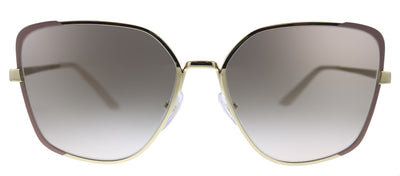 Prada  PR 60XS 07B4K0 Butterfly Metal Pink Sunglasses with Brown Mirror Lens