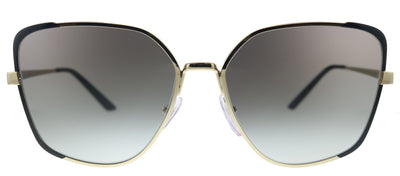 Prada PR 60XS AAV0A7 Butterfly Metal Black Sunglasses with Grey Gradient Lens
