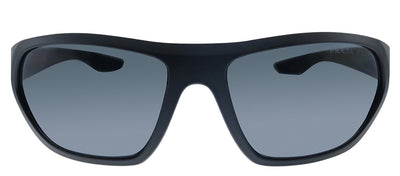 Prada Linea Rossa PS 18US 1BO5Z1 Pillow Plastic Black Sunglasses with Grey Polarized Lens