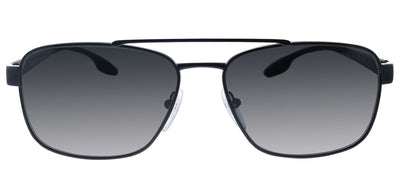 Prada Linea Rossa PS 51US 1AB5S0 Pillow Metal Black Sunglasses with Grey Lens