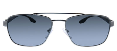 Prada Linea Rossa PS 51US 5AV5Z1 Pillow Metal Gunmetal Sunglasses with Grey Polarized Lens