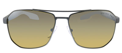 Prada Linea Rossa PS 51VS DG1741 Pillow Metal Gunmetal Sunglasses with Brown Polarized Lens