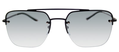 Prada Linea Rossa PS 54SS DG05L0 Rectangle Metal Black Sunglasses with Grey Lens