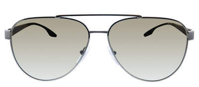Prada Linea Rossa PS 54TS 5AV1X1 Pilot Metal Gunmetal Sunglasses with Brown Gradient Lens