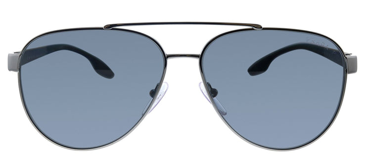Prada Linea Rossa PS 54TS 5AV5Z1 Pilot Metal Gunmetal Sunglasses with Grey Polarized Lens