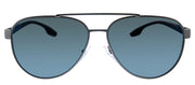 Prada Linea Rossa PS 54TS DG1387 Pilot Metal Gunmetal Sunglasses with Blue Mirror Lens