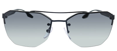 Prada Linea Rossa PS 54VS 1AB3M1 Geometric Metal Black Sunglasses with Grey Lens