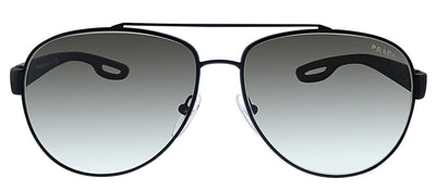 Prada Linea Rossa PS 55QS DG00A7 Pilot Metal Black Sunglasses with Grey Gradient Lens