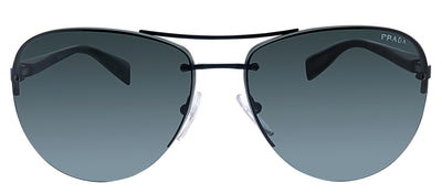 Prada Linea Rossa PS 56MS 1BO1A1 Pilot Metal Black Sunglasses with Grey Lens
