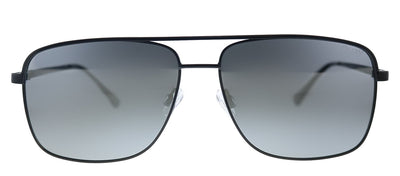 Quay Australia QM PosterBoy BLK/SLV Rectangle Metal Black Sunglasses with Silver Polarized Lens