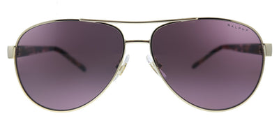 Ralph by Ralph Lauren RA 4004 9409LA Aviator Metal Gold Sunglasses with Pink Gradient Polarized Lens