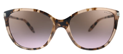 Ralph by Ralph Lauren RA 5160 111614 Cat-Eye Plastic Shiny Pink Tortoise Sunglasses with Brown Gradient Lens