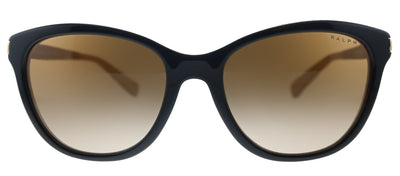 Ralph by Ralph Lauren RA 5201 109013 Cat-Eye Plastic Black Sunglasses with Brown Gradient Lens