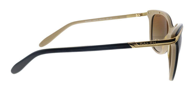Ralph by Ralph Lauren RA 5203 109013 Cat-Eye Plastic Black Sunglasses with Brown Gradient Lens