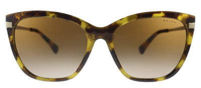 Ralph by Ralph Lauren RA 5267 583613 Butterfly Plastic Havana Sunglasses with Gold Mirror Lens