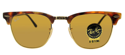 Ray-Ban RB 3016 1160 Clubmaster Plastic Havana Sunglasses with Brown Lens