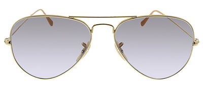 Ray-Ban RB 3025 9064V8 Aviator Large Metal Pilot Metal Gold Sunglasses with Grey Lens