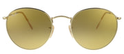 Ray-Ban RB 3447 90644I Round Metal Gold Sunglasses with Brown Lens