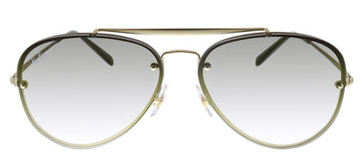 Ray-Ban Blaze Aviator RB 3584N 91400R Pilot Metal Gold Sunglasses with Green Gradient Lens