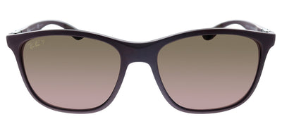 Ray-Ban Chromance RB 4330CH 64456B Square Plastic Violet Sunglasses with Brown Polarized Lens